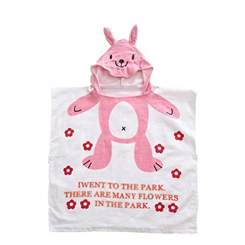 Nanxson(TM) cotton infant/ newborn toddle blanket/ bath towel YJET0004 (pink)