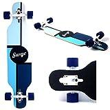 Hot Cruiser Through 9.5x42 Longboard THRU Skateboard Complete Trident White