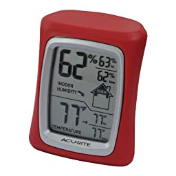 AcuRite 00327 Home Comfort Monitor, Red