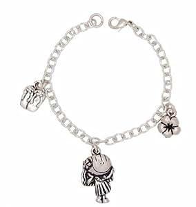Amazon.com: Clayvision Hawaiian Hula Girl Charm Bracelet ...