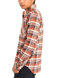 (スペイド) SPADE チェックシャツ メンズ シャツ 長袖 ネルシャツ チェック カジュアル【w197】 (M, ブリック)