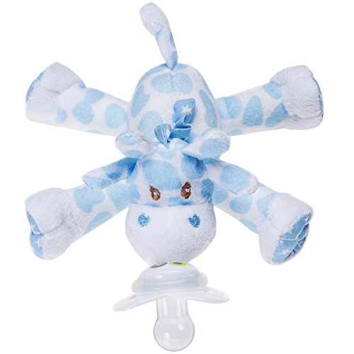 Nookums Paci-Plushies Blue Giraffe - Universal Pacifier Holder - 1