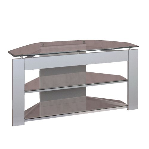 Cheap Powell Glossy Silver Glass TV Stand (968-802)