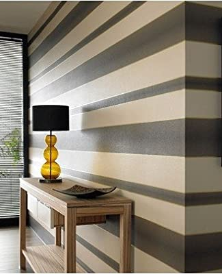 Graham Brown Verve Stripe Wallpaper Cream Chocolate 58221 from Graham & Brown