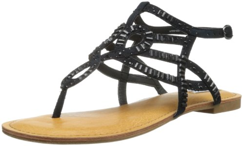 Not Rated Women'S Full Speed Dress Sandal,Black,7.5 M Us