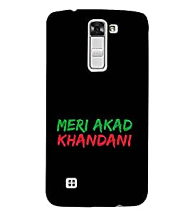 Meri Akad Khandani 3D Hard Polycarbonate Designer Back Case Cover for LG K7 4G Dual