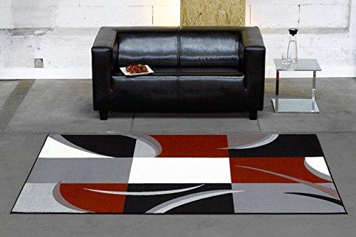 Tappeto Sala Rosso: Tappeto di design con bordo definito ...
