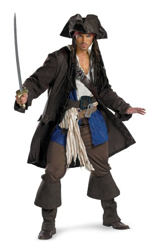 Captain Jack Sparrow Costume Prestige Premium Adult Costume 5626