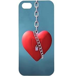 Casotec Heart Lock Design Hard Back Case Cover for Apple iPhone 5 / 5S