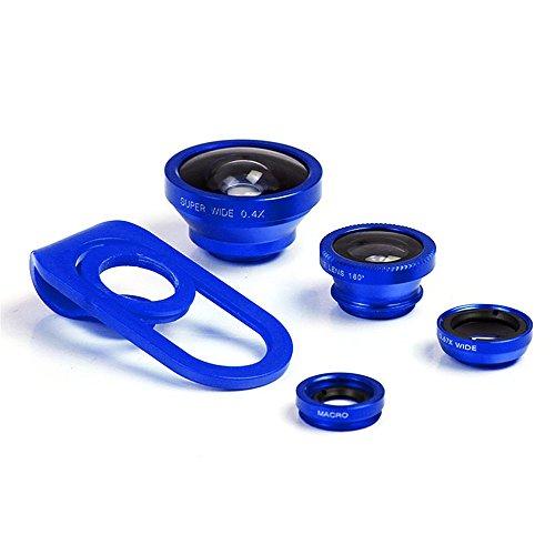 HD Mobile Phones Camera Lens Megadream 2 In 1 Macro Lens + Super Wide Angle Lens + CPL Lens Camera Lens Kit Universal Professional Digital SLR Pro Lens Kit For IPhone Samsung Tablet-Blue