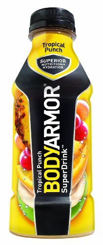 BodyArmor Drink, Tropical Punch, 16 Ounce (Pack of 12)