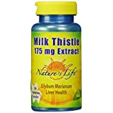 Nature's Life Milk Thistle Seed Extract Veg Capsules, 175 Mg, 100 Count
