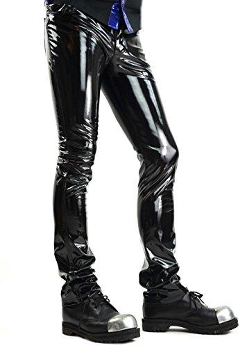 Lip Service Gothic Punk Rocker Cyber Goth Black Vinyl PVC Jeans Pants (32)