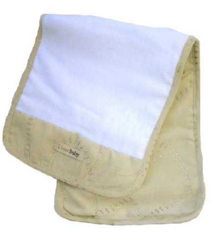 L'Oved Baby Burp Cloth Plush, Sand, One Size front-758863