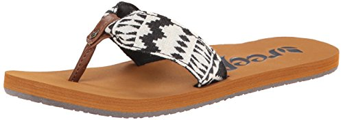 Reef Women's Scrunch TX Sandal,Black White,11 M US