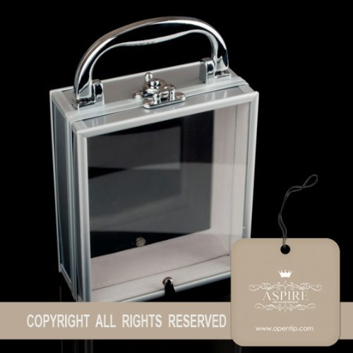 Aspire Acrylic Double Side See-through Aluminum Jewelry Box, Storage Container Picture