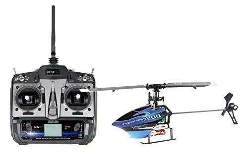 XciteRC-14000110-RC-Hubschrauber-Flybarless-200-3D-RTF-24-GHz-mit-6S-Profi-6-Kanal-Sender-blauschwarz