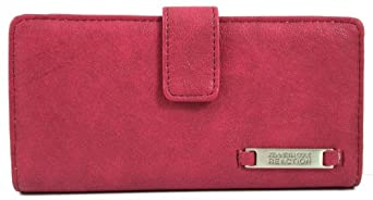 Kenneth Cole Reaction Dark Pink Flat Thin Snap Wallet