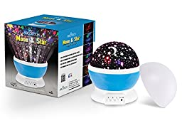 Night Lighting Lamp - Light Up Your Bedroom or Living Room With This Moon, Star, Sky Romantic LED Nightlight Projector - Adults, Children Relaxing and Sleeping Aid - Best Gift for Men Women Teens Kids
