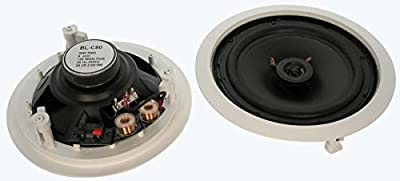 "InstallerParts 8"" 2-Way Ceiling Speaker BLC80, Pair (2pc)"