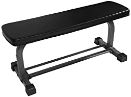 XMark Fitness Flat Weight Bench with Dumbbell Rack XM-4414
