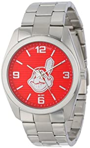Game Time Unisex MLB-ELI-CLE Elite Cleveland Indians 3-Hand Analog Watch by Game Time