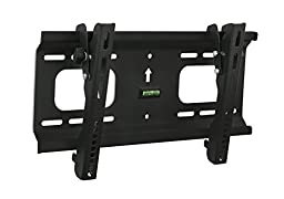 Mount-It! Tilting TV Wall Mount Bracket Low-Profile Design for 32 to 55 inch LCD, LED, OLED, 4K or Plasma Flat Screen TVs Certified 165 Lbs Load Capacity, 1.8 Inch Profile, Max VESA 400x200