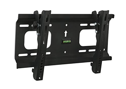 Mount-It! MI-368S/PLB42 Low-Profile Tilting TV Wall Mount Bracket for 32 to 55 inch LCD, LED, OLED, 4K or Plasma Flat Screen TVs Certified 165 Lbs Load Capacity, 1.8 Inch Profile, Max VESA 400x200, Black (Low Profile 55 Inch Tv Wall Mount compare prices)