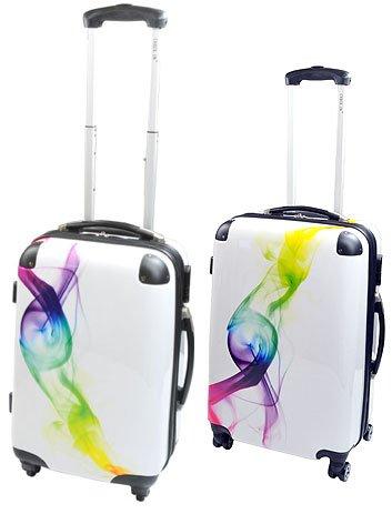 2-teiliges Trolley-Kofferset Reisekoffer Hartschale