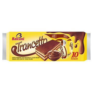 Balconi Trancetto Snack Cacao Snack Cakes - 10 cakes per pack