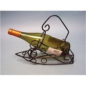 Metal Boat Wine Bottle Holder Tabletop Wine