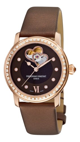 Frederique Constant Women's FC-310CDHB2PD4 Ladies Automatic Brown Diamond Dial Watch