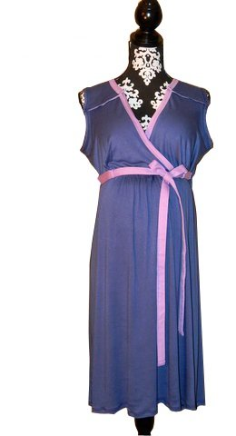 Image of BG & CO Bg Birthing Gown (blueberry Pie)