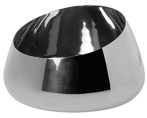 Large Stainless Steel Slant Bowl, Plain Finish