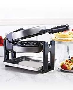 Sensio 13124 Bella Cucina Belgian Waffle Maker with Drip Tray