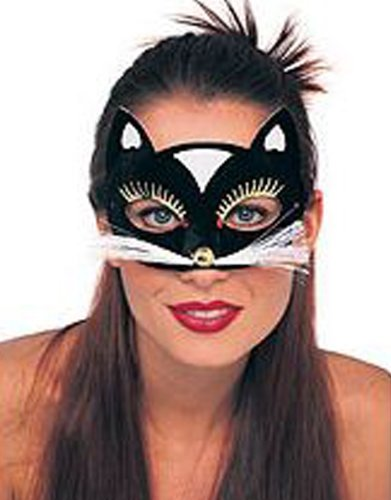 Blk Kitty Eyemask Costume