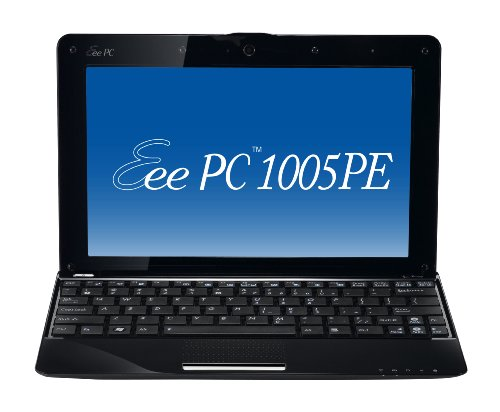 ASUS Eee PC Seashell 1005PE-MU17-BK 10.1-Inch Black Netbook - Up to 11 Hours of Battery Life