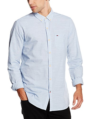 Hilfiger Denim Neps Stripe Shirt L/s 1, Camicia Uomo, Blu (Estate Blue-PT 480), XX-Large