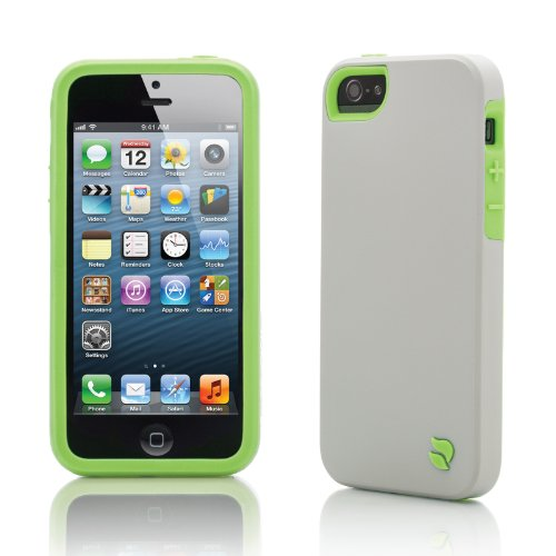 Innovez Eco Friendly Interchangeable iPhone 5 Case (Gray/Green)