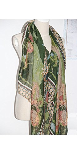 Voile scarf buy voile scarf products online in oman muscat women ladies world map print scarf voile scarves pashmina wrap muffler gumiabroncs Gallery