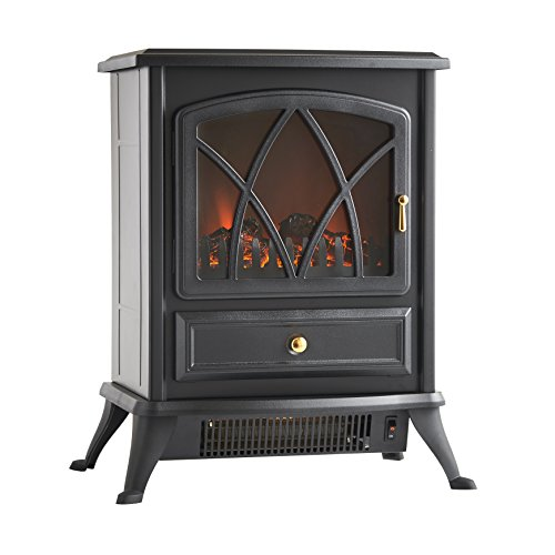 Best Price! VonHaus 1500W Portable Electric Stove Heater Fireplace / Space Heater with Log Burning F...