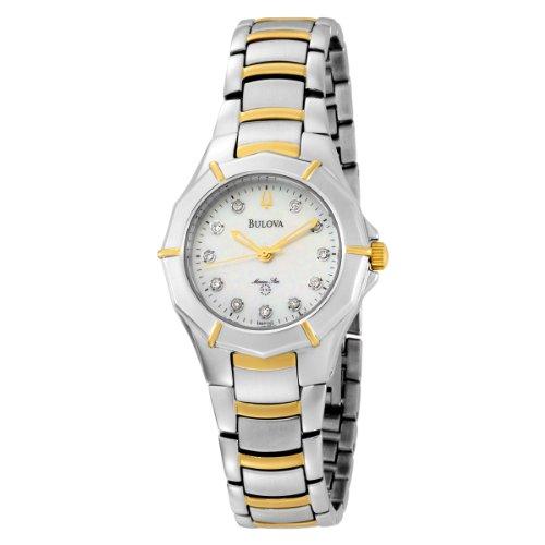 a93a20b2f73b Bulova Women s 98P110 Marine Star Diamond Accented Two-Tone Stainless Steel  Watch