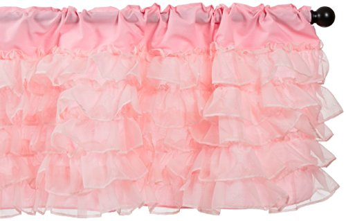 Baby Doll Layered Window Valance, Pink front-824742