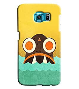 Blue Throat Shark Cartoon In Water Printed Designer Back Cover/ Case For Samsung Galaxy S6 Edge Plus