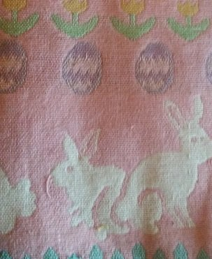 [Peter Cotton Tail Full Size Crib Blanket/100% Woven Cotton/ Pink] (Peter Cotton Tail)