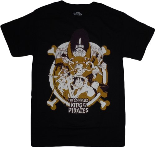 one piece i 39 m gonna be king of the pirates t shirt adult. Black Bedroom Furniture Sets. Home Design Ideas