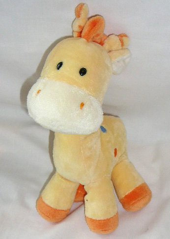 Just One Year by Carters Plush Giraffe Rattle - 1