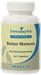 EverydayVet Better Memory Contains 60 Capsules for Cats and Dogs