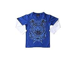 Anthill Boys' T-Shirt (AM109B_Royal Blue_4 - 5 Years)