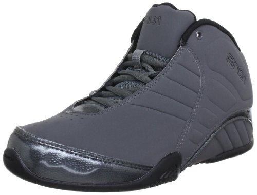 And1 Mens ROCKET 3.0 MID Basketball Shoes  Gray Grau (Asphalt/Black) Size: 7.5 (42 EU)
